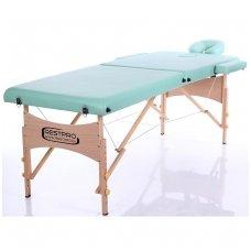 Sulankstomas masažo stalas Restpro Classic 2/BlueGreen +  Dovana buteliukas aliejui su krepšeliu