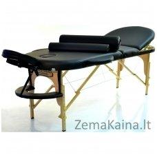 Sulankstomas masažo stalas Restpro Classic Oval 3/Black SET + DOVANA 10 vnt vienkartinių neperšlampamų stalo užtiesalų