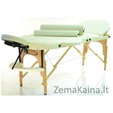 Sulankstomas masažo stalas Restpro Classic Oval 3/Cream SET + DOVANA 10 vnt vienkartinių neperšlampamų stalo užtiesalų