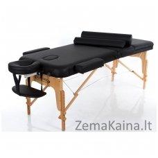 Sulankstomas masažo stalas Restpro Vip 3/Black SET + DOVANA 10 vnt vienkartinių neperšlampamų stalo užtiesalų