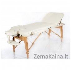 Sulankstomas masažo stalas Restpro Vip 3/Cream + DOVANA medvilninis užtiesalas