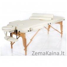 Sulankstomas masažo stalas Restpro Vip 3/Cream SET + DOVANA 10 vnt vienkartinių neperšlampamų stalo užtiesalų