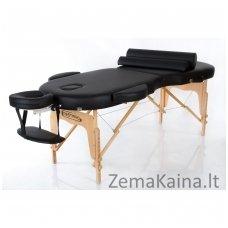 Sulankstomas masažo stalas Restpro Vip Oval 2/Black SET + DOVANA 10 vnt vienkartinių neperšlampamų stalo užtiesalų