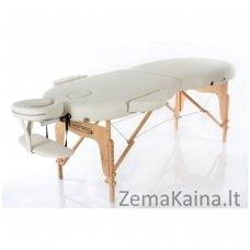 Sulankstomas masažo stalas Restpro Vip Oval 2/Cream + DOVANA medvilninis užtiesalas