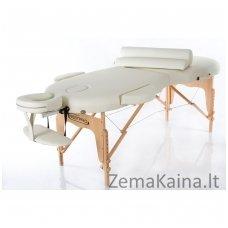Sulankstomas masažo stalas Restpro Vip Oval 2/Cream SET + DOVANA 10 vnt vienkartinių neperšlampamų stalo užtiesalų