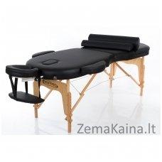 Sulankstomas masažo stalas Restpro Vip Oval 3/Black SET + DOVANA 10 vnt vienkartinių neperšlampamų stalo užtiesalų