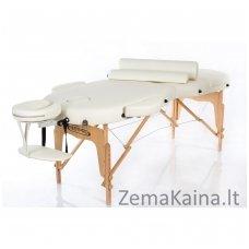 Sulankstomas masažo stalas Restpro Vip Oval 3/Cream SET + DOVANA 10 vnt vienkartinių neperšlampamų stalo užtiesalų