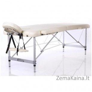 Sulankstomas masažo stalas Restpro Alu M2/Cream + DOVANA pusinė pagalvėlė