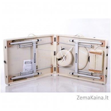 Sulankstomas masažo stalas Restpro Alu L3/Cream + DOVANA pusinė pagalvėlė 8
