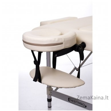 Sulankstomas masažo stalas Restpro Alu L3/Cream + DOVANA pusinė pagalvėlė 3