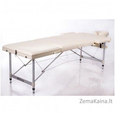 Sulankstomas masažo stalas Restpro Alu L3/Cream + DOVANA pusinė pagalvėlė 2