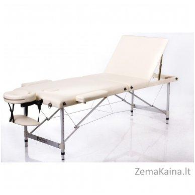 Sulankstomas masažo stalas Restpro Alu L3/Cream + DOVANA pusinė pagalvėlė