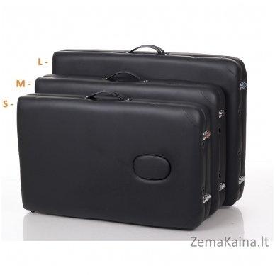 Sulankstomas masažo stalas Restpro Alu M2/Black + DOVANA pusinė pagalvėlė 5