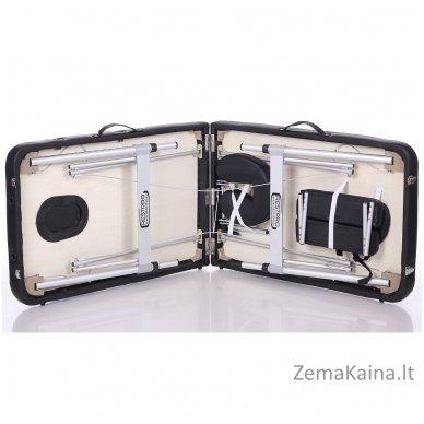 Sulankstomas masažo stalas Restpro Alu M2/Black + DOVANA pusinė pagalvėlė 3