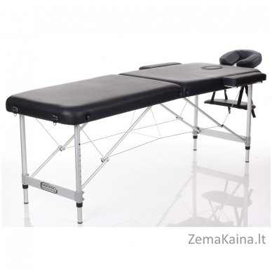 Sulankstomas masažo stalas Restpro Alu M2/Black + DOVANA pusinė pagalvėlė 2