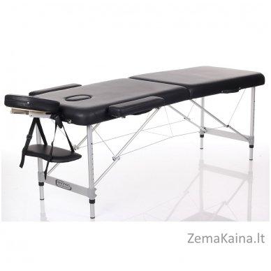 Sulankstomas masažo stalas Restpro Alu M2/Black + DOVANA pusinė pagalvėlė