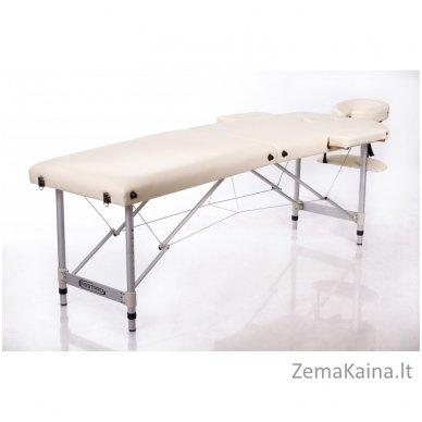 Sulankstomas masažo stalas Restpro Alu S2/Cream + DOVANA pusinė pagalvėlė 2