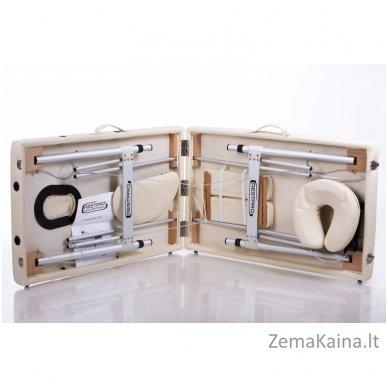 Sulankstomas masažo stalas Restpro Alu S2/Cream + DOVANA pusinė pagalvėlė 8