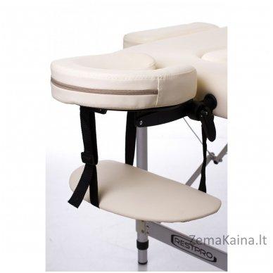 Sulankstomas masažo stalas Restpro Alu S2/Cream + DOVANA pusinė pagalvėlė 4