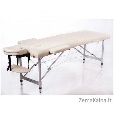 Sulankstomas masažo stalas Restpro Alu S2/Cream + DOVANA pusinė pagalvėlė