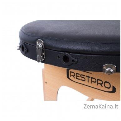 Sulankstomas masažo stalas Restpro Classic Oval 3/Black +  Dovana buteliukas aliejui su krepšeliu 9