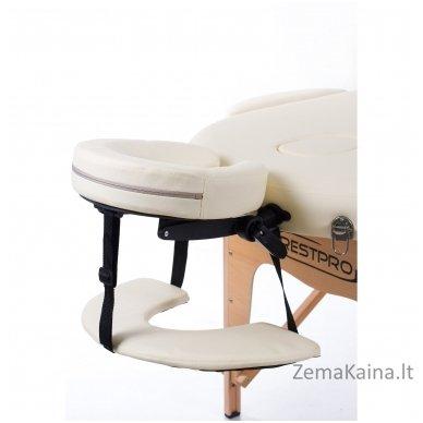 Sulankstomas masažo stalas Restpro Classic Oval 3/Cream +  Dovana buteliukas aliejui su krepšeliu 4