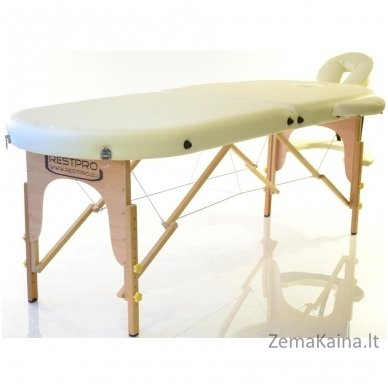 Sulankstomas masažo stalas Restpro Classic Oval 2/Cream