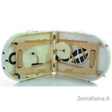 Sulankstomas masažo stalas Restpro Classic Oval 2/Cream 2