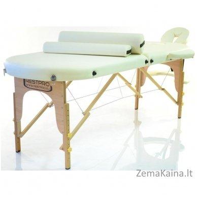 Sulankstomas masažo stalas Restpro Classic Oval 2/Cream SET