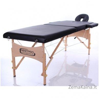Sulankstomas masažo stalas Restpro Classic 2/Black +  Dovana buteliukas aliejui su krepšeliu