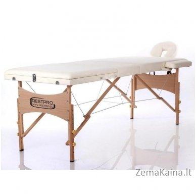 Sulankstomas masažo stalas Restpro Classic 3/Cream +  Dovana buteliukas aliejui su krepšeliu 3