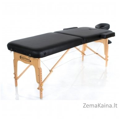 Sulankstomas masažo stalas Restpro Vip 2/Black + DOVANA medvilninis užtiesalas 2
