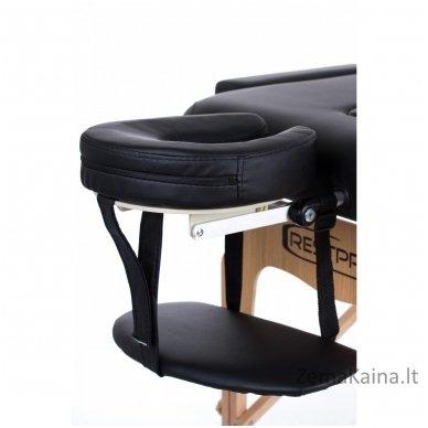 Sulankstomas masažo stalas Restpro Vip 2/Black SET + DOVANA 10 vnt vienkartinių neperšlampamų stalo užtiesalų 7