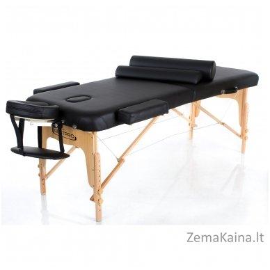 Sulankstomas masažo stalas Restpro Vip 2/Black SET + DOVANA 10 vnt vienkartinių neperšlampamų stalo užtiesalų