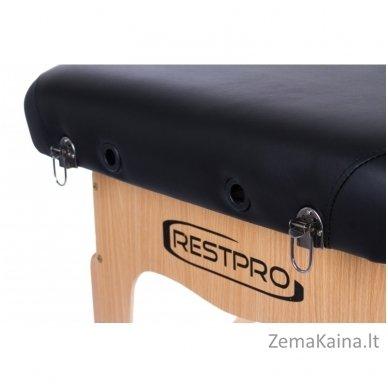 Sulankstomas masažo stalas Restpro Vip 2/Black SET + DOVANA 10 vnt vienkartinių neperšlampamų stalo užtiesalų 6