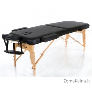Sulankstomas masažo stalas Restpro Vip 2/Black SET + DOVANA 10 vnt vienkartinių neperšlampamų stalo užtiesalų 4