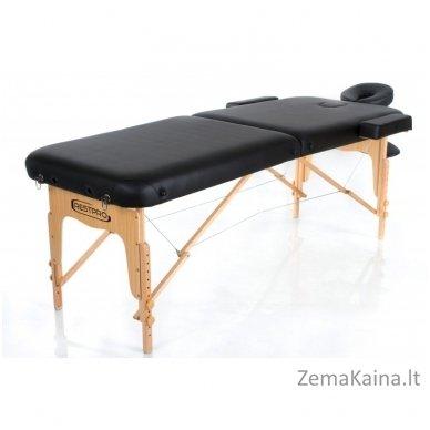 Sulankstomas masažo stalas Restpro Vip 2/Black SET + DOVANA 10 vnt vienkartinių neperšlampamų stalo užtiesalų 5