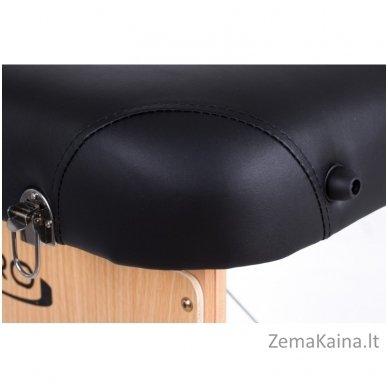Sulankstomas masažo stalas Restpro Vip 2/Black SET + DOVANA 10 vnt vienkartinių neperšlampamų stalo užtiesalų 8