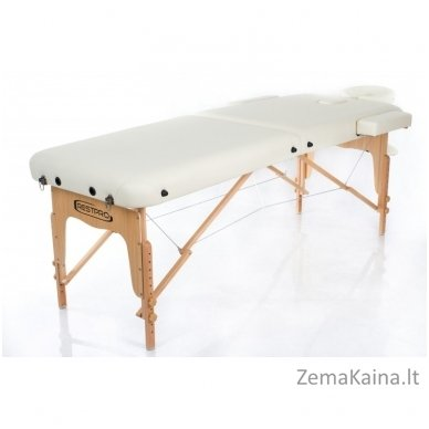 Sulankstomas masažo stalas Restpro Vip 2/Cream + DOVANA medvilninis užtiesalas 2