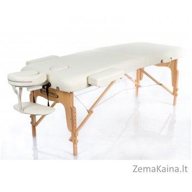 Sulankstomas masažo stalas Restpro Vip 2/Cream + DOVANA medvilninis užtiesalas