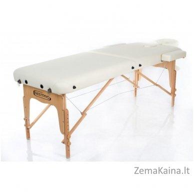 Sulankstomas masažo stalas Restpro Vip 2/Cream SET + DOVANA 10 vnt vienkartinių neperšlampamų stalo užtiesalų 5