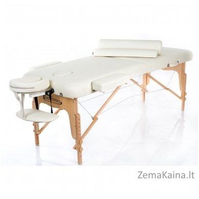 Sulankstomas masažo stalas Restpro Vip 2/Cream SET + DOVANA 10 vnt vienkartinių neperšlampamų stalo užtiesalų