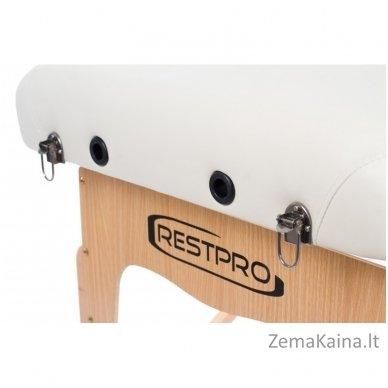Sulankstomas masažo stalas Restpro Vip 2/Cream SET + DOVANA 10 vnt vienkartinių neperšlampamų stalo užtiesalų 10