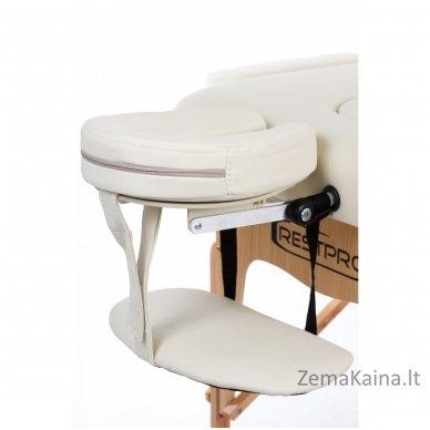 Sulankstomas masažo stalas Restpro Vip 2/Cream SET + DOVANA 10 vnt vienkartinių neperšlampamų stalo užtiesalų 6