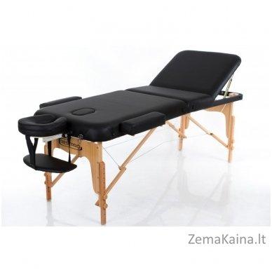 Sulankstomas masažo stalas Restpro Vip 3/Black + DOVANA medvilninis užtiesalas