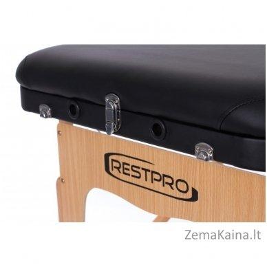 Sulankstomas masažo stalas Restpro Vip 3/Black + DOVANA medvilninis užtiesalas 6