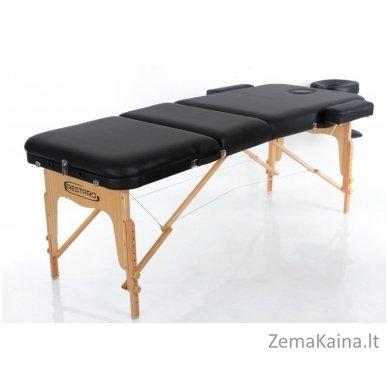 Sulankstomas masažo stalas Restpro Vip 3/Black + DOVANA medvilninis užtiesalas 2