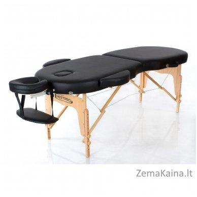 Masažo stalas Restpro Vip Oval 2/Black + DOVANA medvilninis užtiesalas