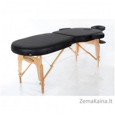 Masažo stalas Restpro Vip Oval 2/Black + DOVANA medvilninis užtiesalas 2