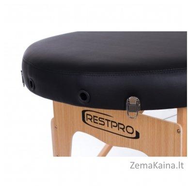 Masažo stalas Restpro Vip Oval 2/Black + DOVANA medvilninis užtiesalas 5